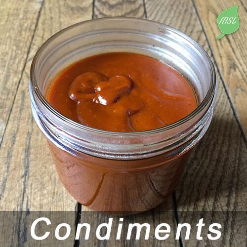 Recettes de condiments naturels et faits maison