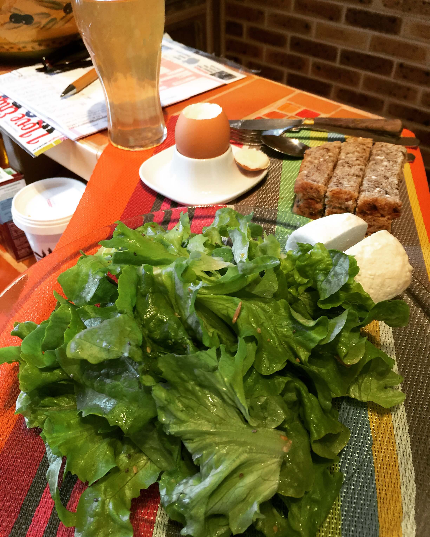 Repas healthy avec les produits de la ferme