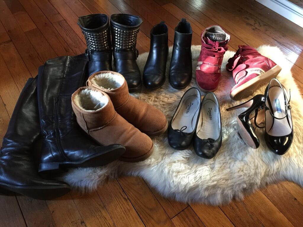 Chaussures de ma capsule wardrobe hiver