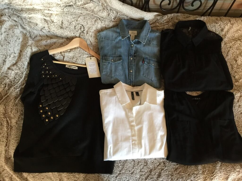 Chemises et sweat de ma capsule wardrobe hiver