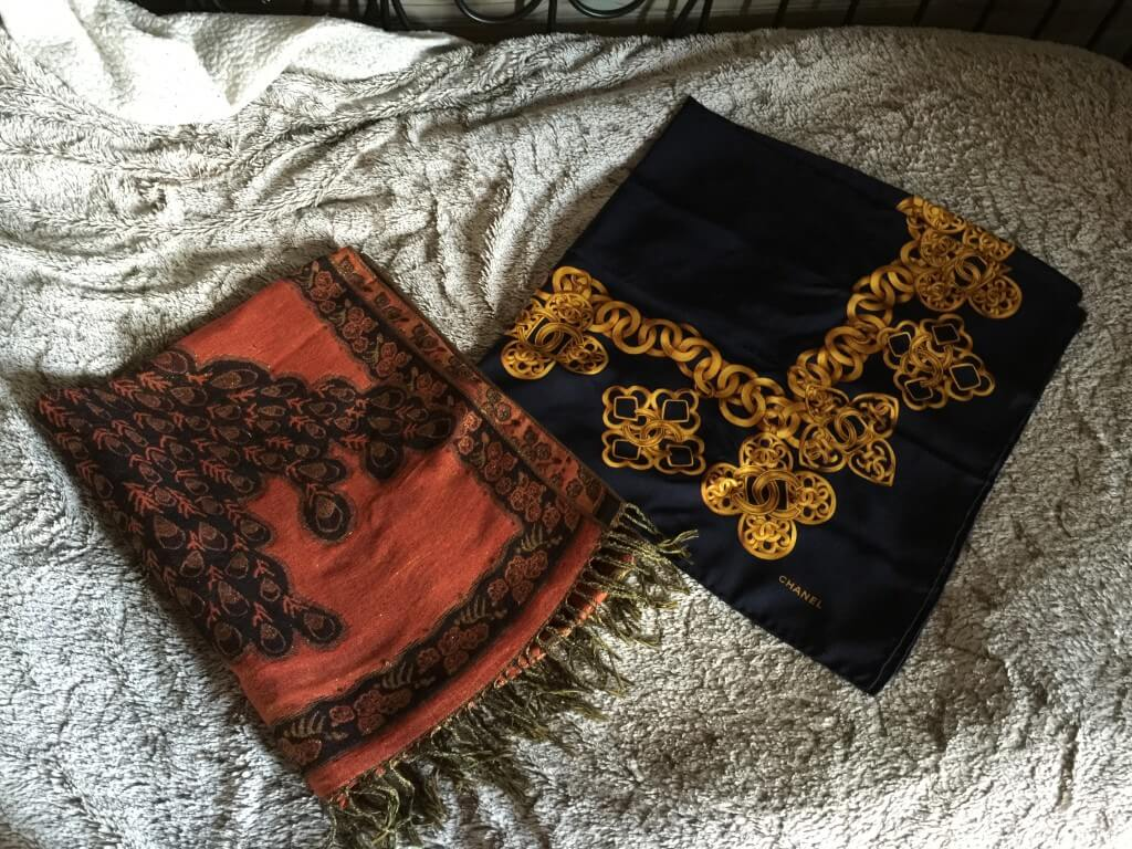 Foulards de ma capsule wardrobe hiver