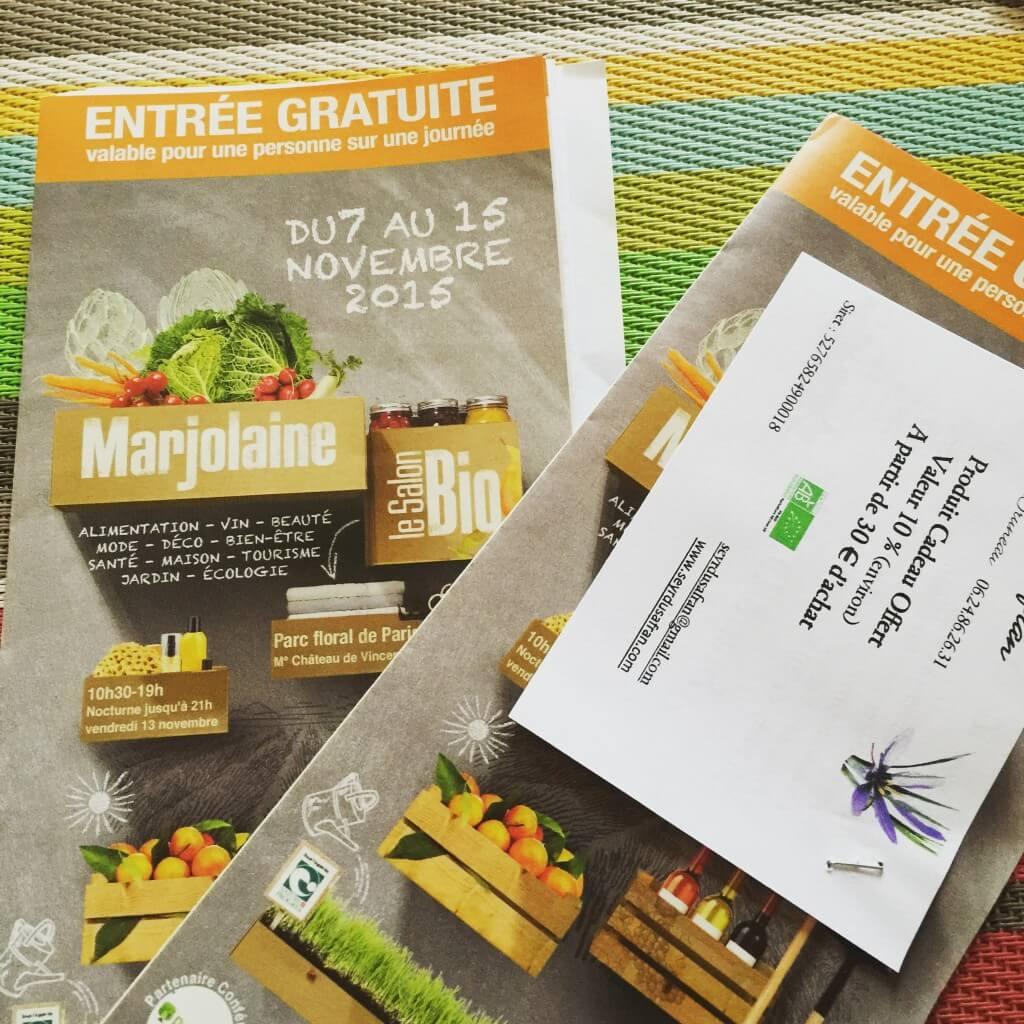 Invitations gratuites pour le Salon du Bio Marjolaine à Paris