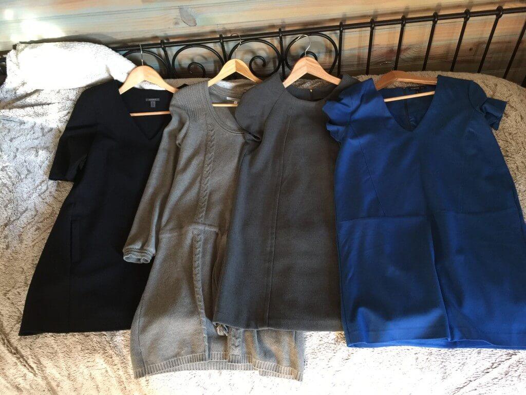 Robes de ma capsule wardrobe hiver