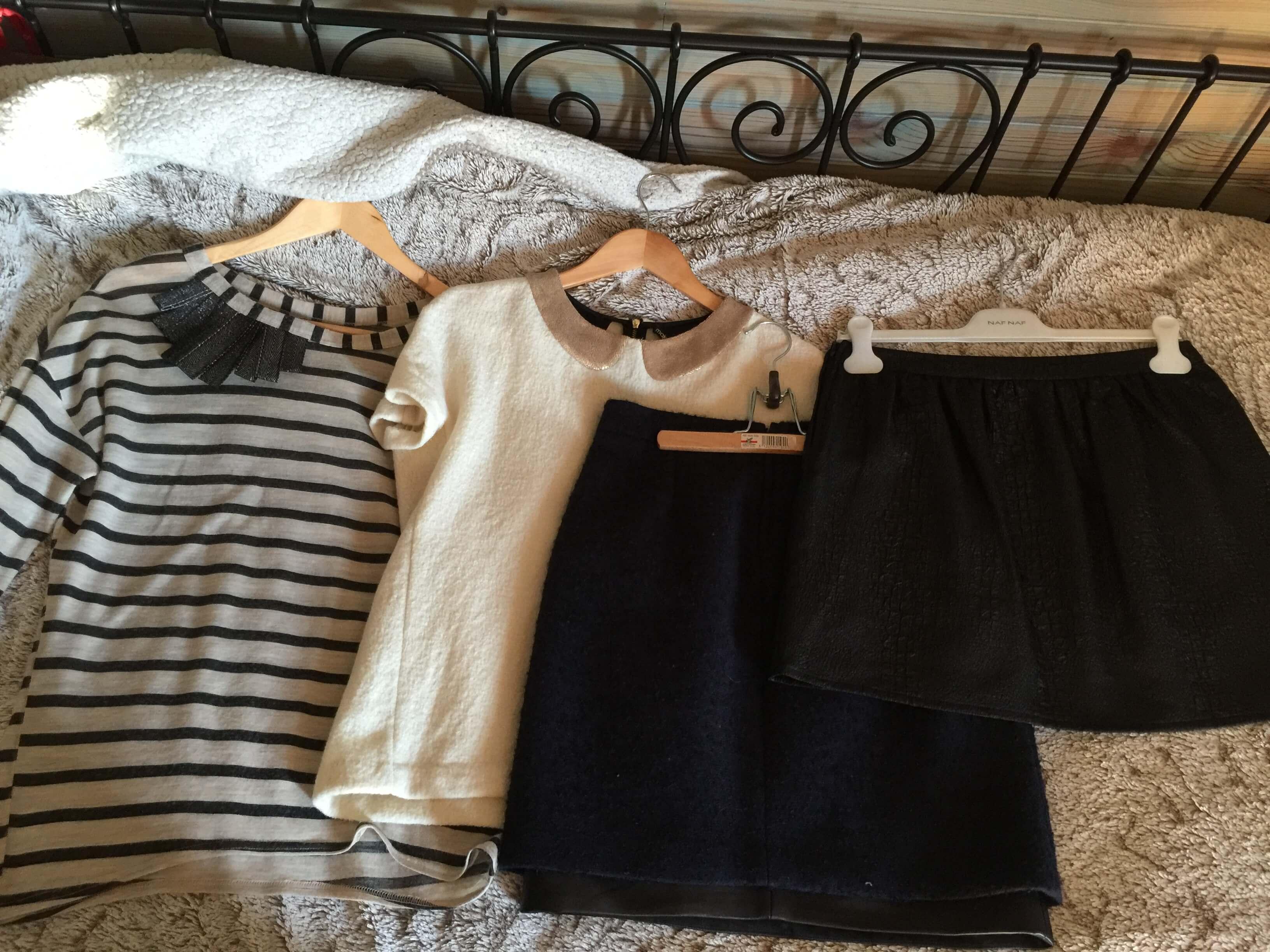 Tops et jupes de ma capsule wardrobe hiver
