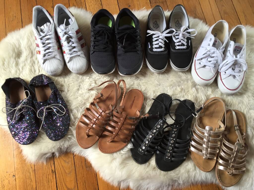 Chaussures capsule wardrobe printemps/été 2016