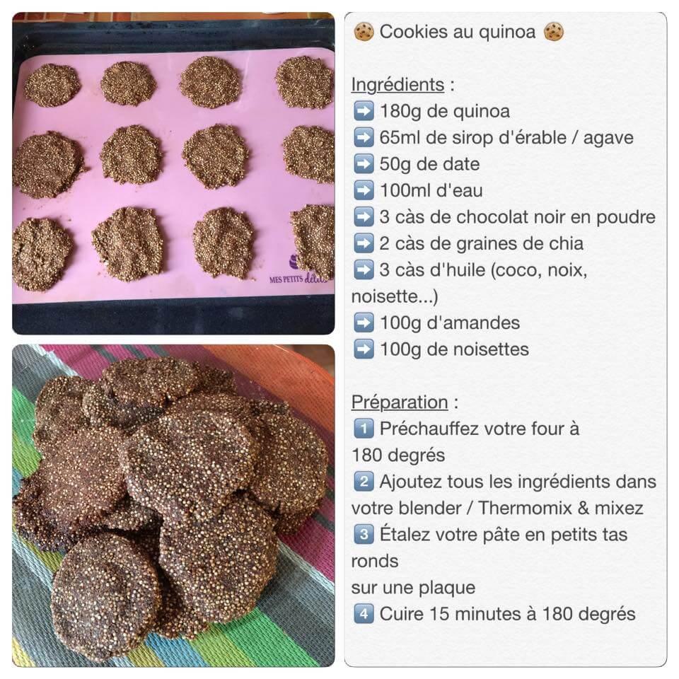 Recette de cookies au quinoa
