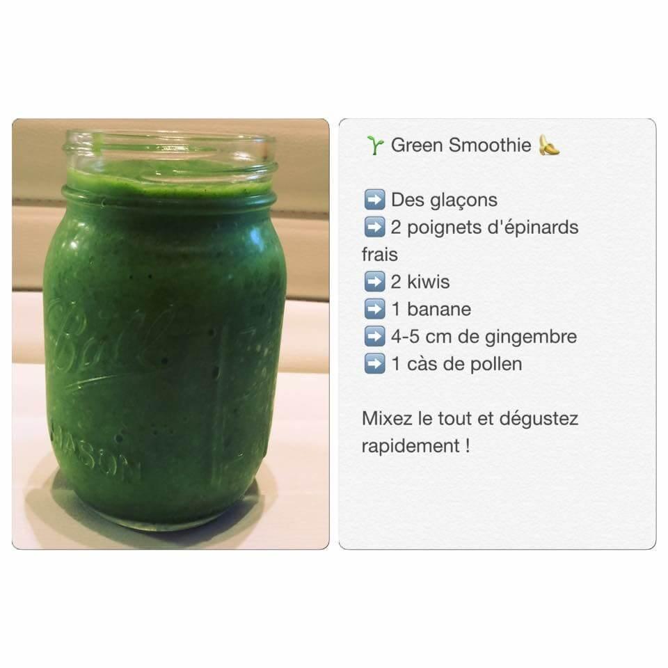 Recette de green smoothie
