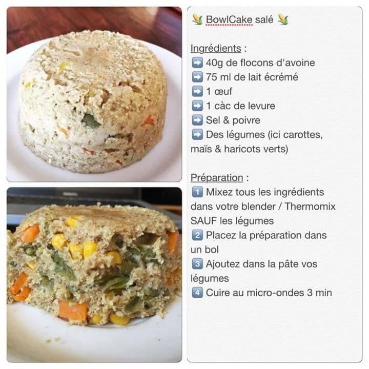 Recette de bowlcake aux légumes