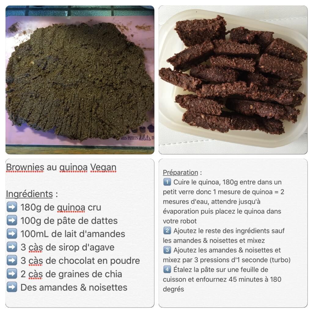 Recette de brownies vegan au quinoa