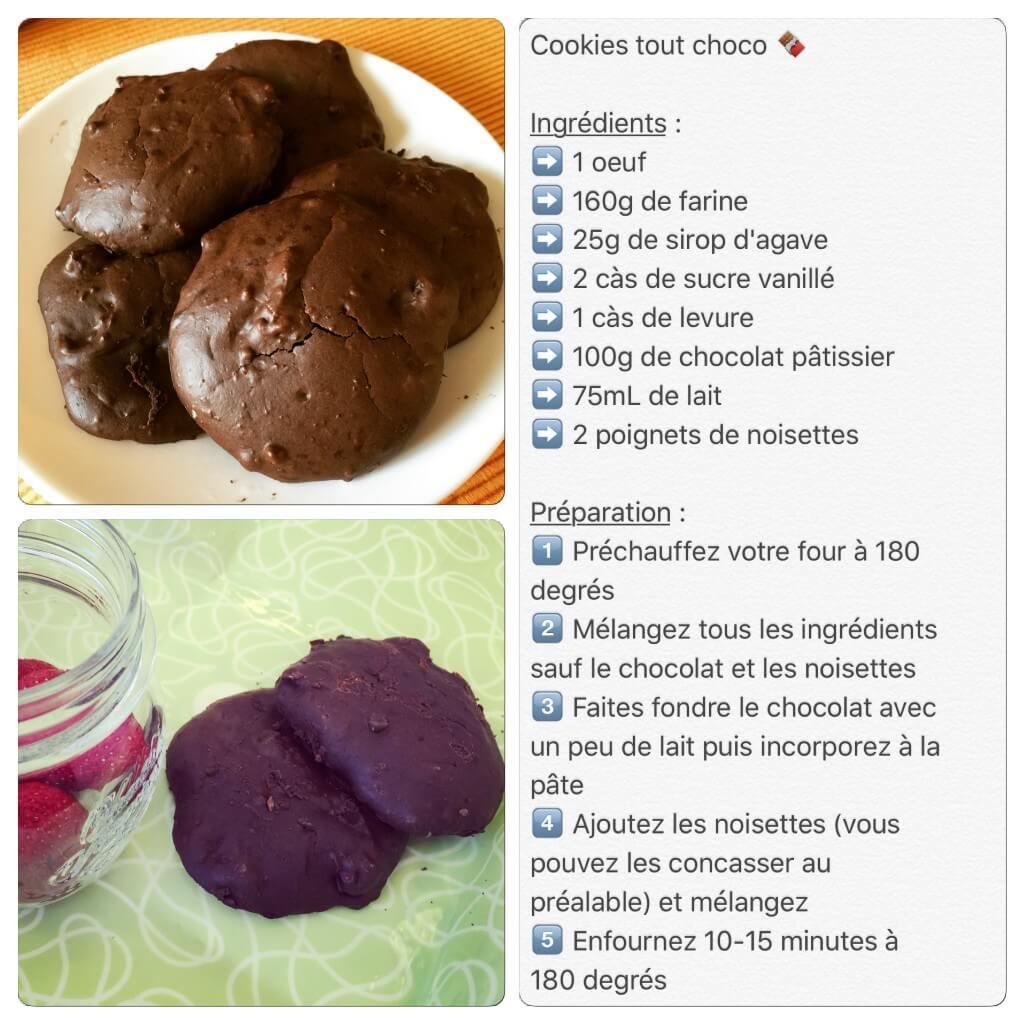 Recette de cookies chocolat noisettes
