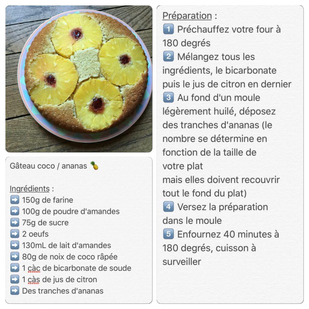Recette de gâteau ananas et coco