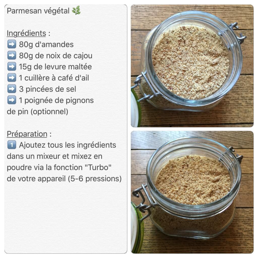 Recette de parmesan végétal - vegan