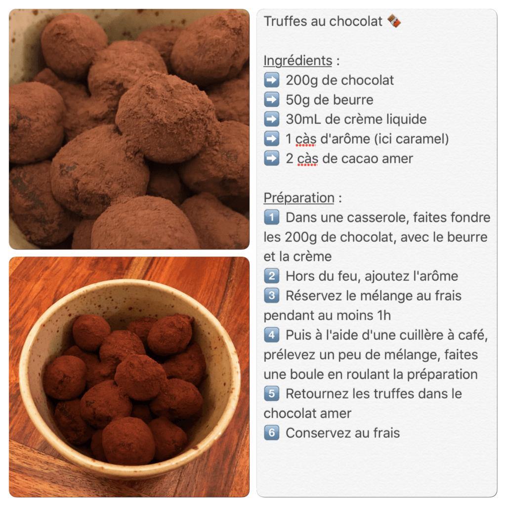 Recette de truffes au chocolat