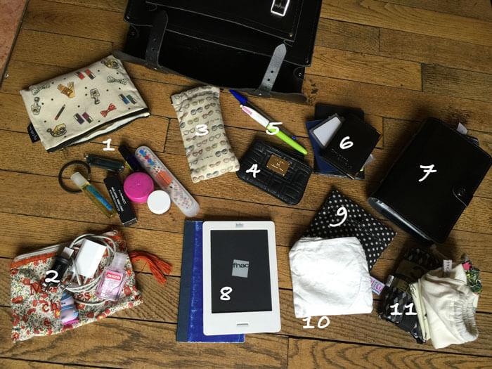 What's in my bag zero dechet