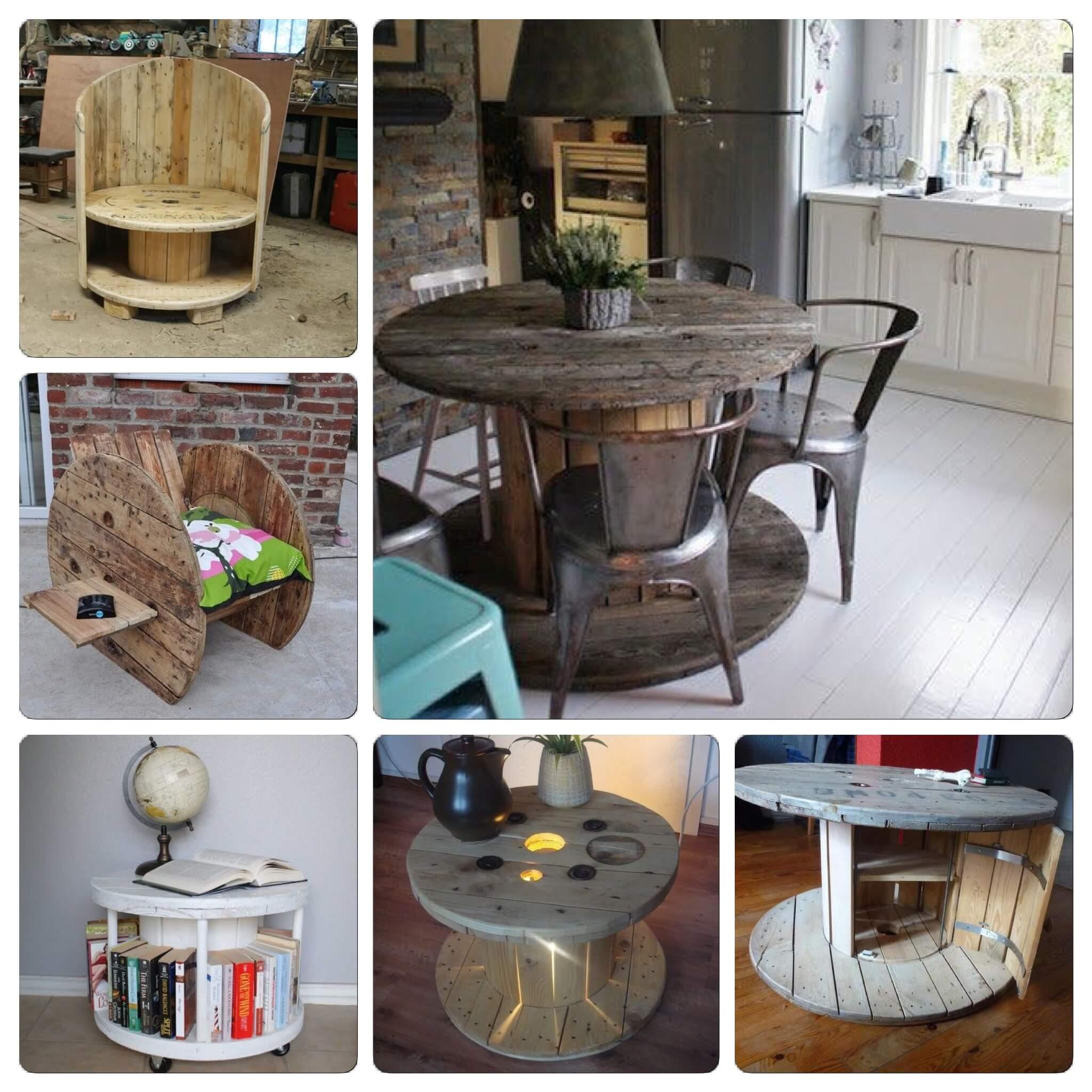 diy et upcycling de bobines en bois my slow life. Black Bedroom Furniture Sets. Home Design Ideas