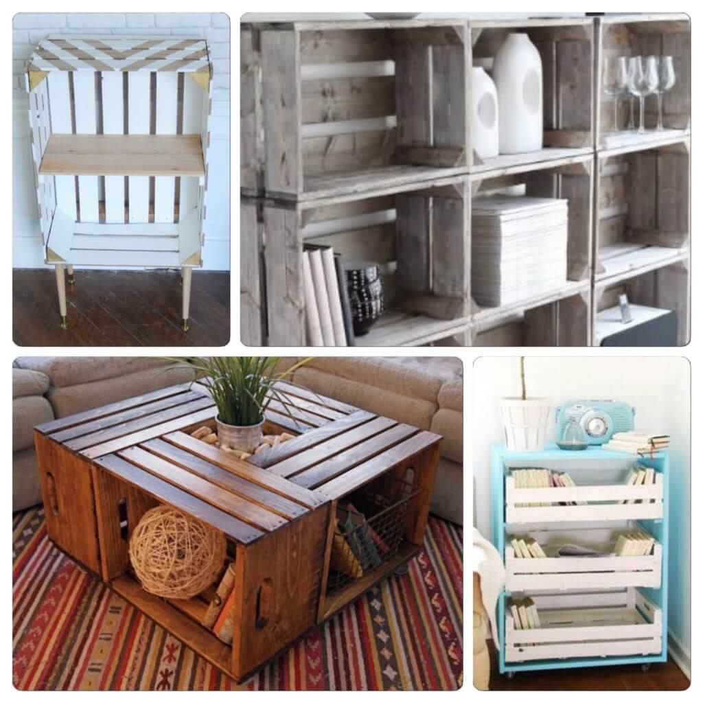 diy upcycling de cagettes en bois my slow life. Black Bedroom Furniture Sets. Home Design Ideas