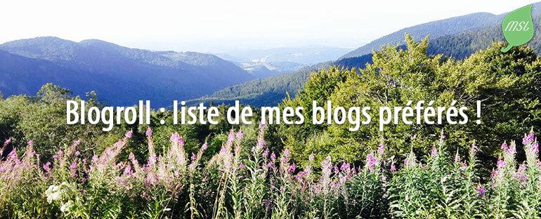 Blogroll : liste de blogs favoris