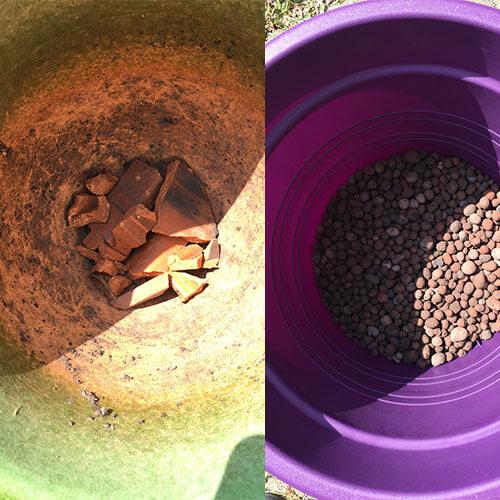 Réaliser un drainage pour les plantations en pots