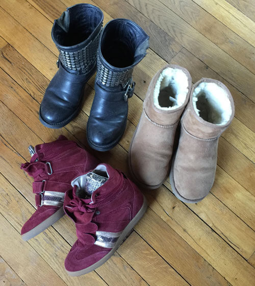 Chaussures pour ma capsule wardrobe automne hiver 2016