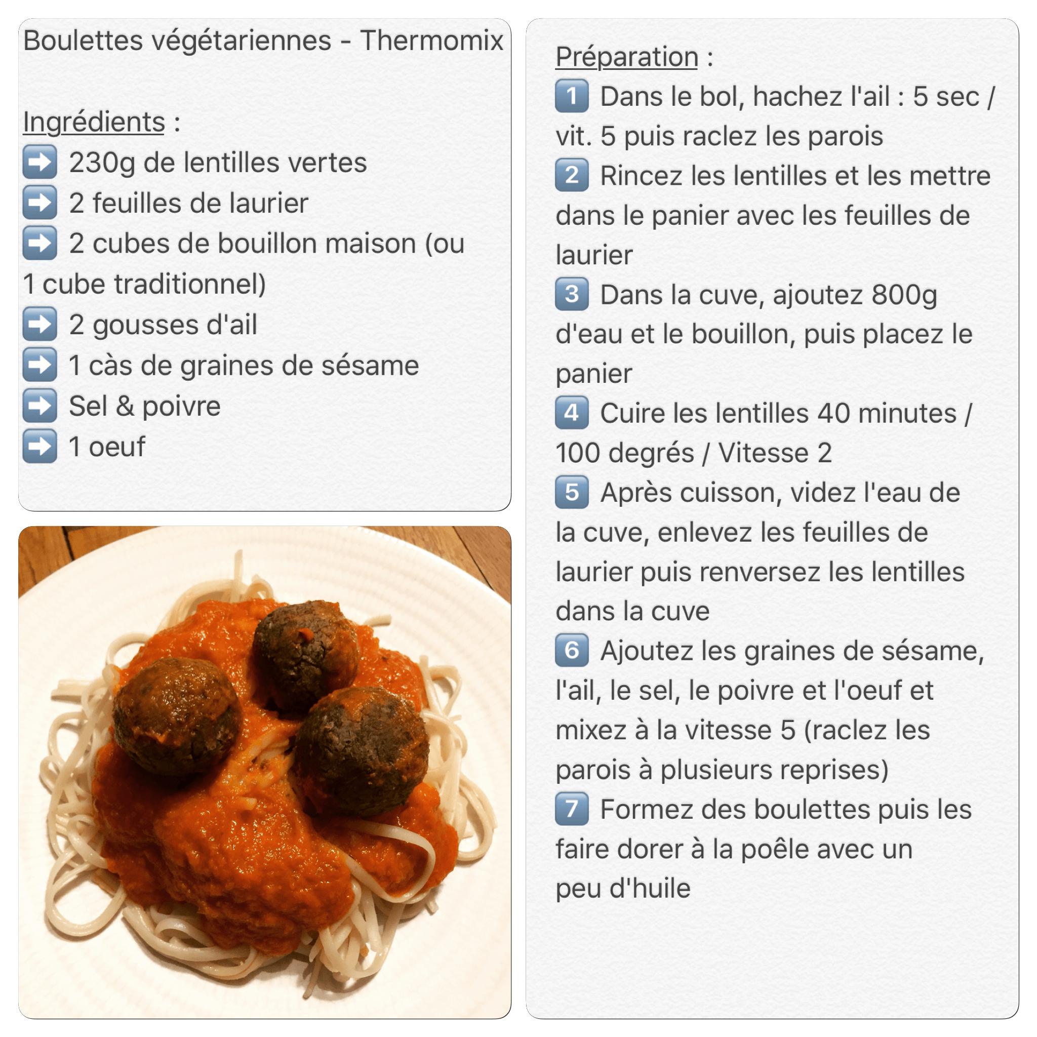 recette,boulettes,vegetariennes,thermomix,myslowlife