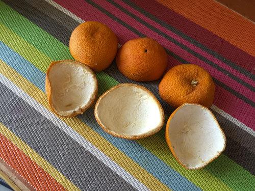 Réutiliser des peaux d'oranges