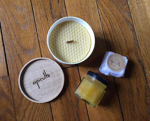Bougie Apiculte à la cire d'abeilles