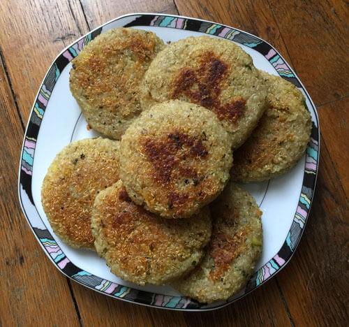 Burgers de quinoa vegan de Marie Laforêt