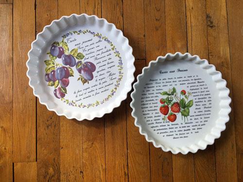 Plats à tarte en porcelaine Revol