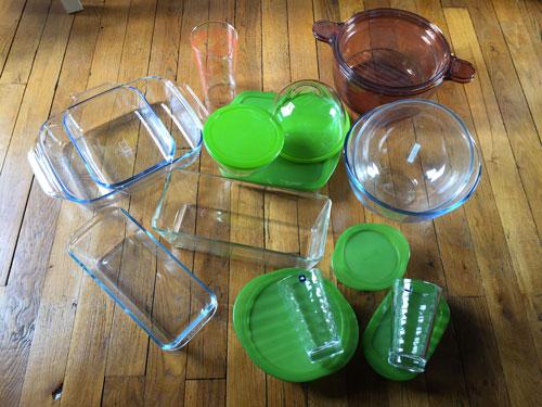 Ustensiles en verre et Pyrex pour une cuisine durable