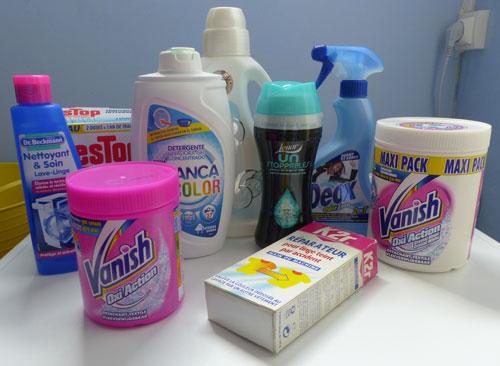Produits conventionnels pour faire la lessive