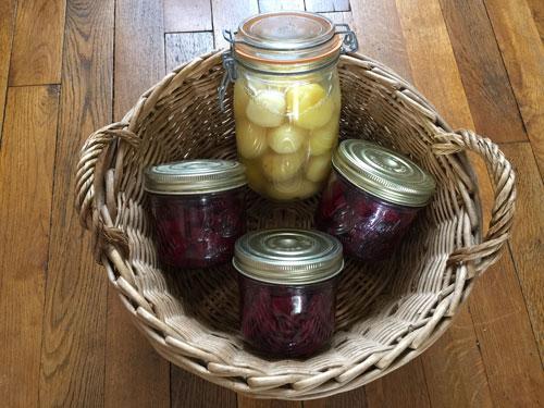 Réaliser des conserves de betteraves et de pommes de terre