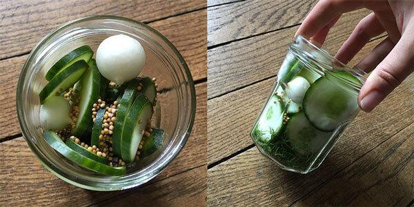 Recette de pickles de concombre avec vinaigre