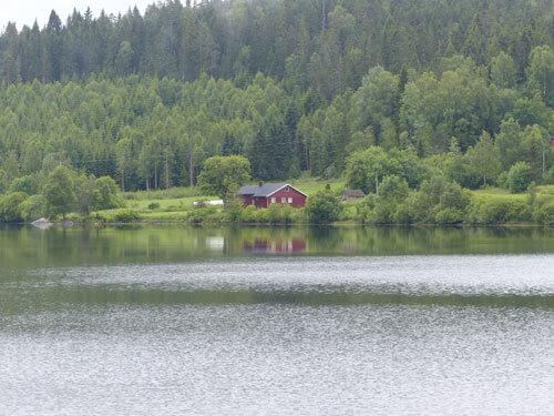 Maison typique Oslo en Norvège