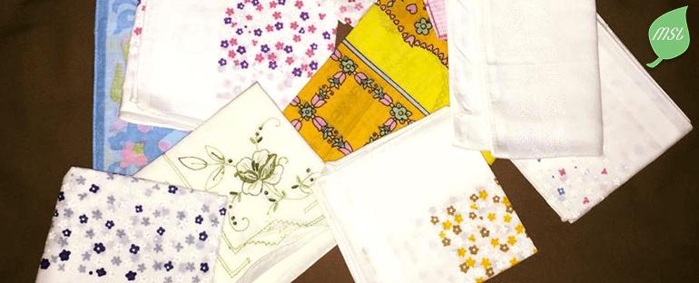Mouchoirs en tissu, objectif zéro déchet