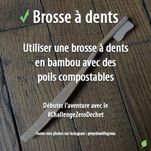 Utiliser une brosse à dent zéro déchet en bois et compostable