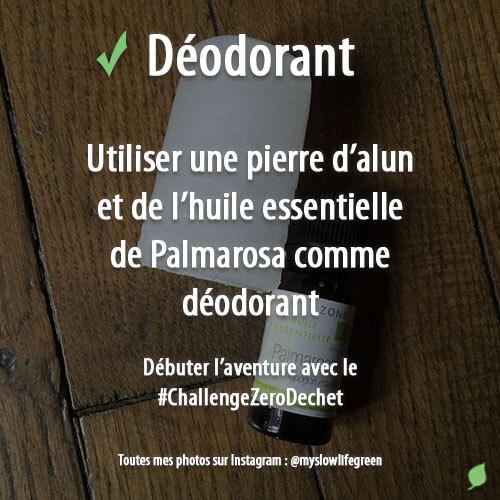 Déodorant naturel et zéro déchet