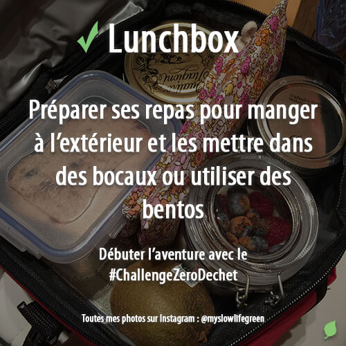 Lunchbox zéro déchet