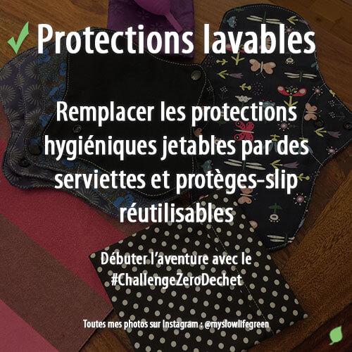 Protection hygiénique lavable
