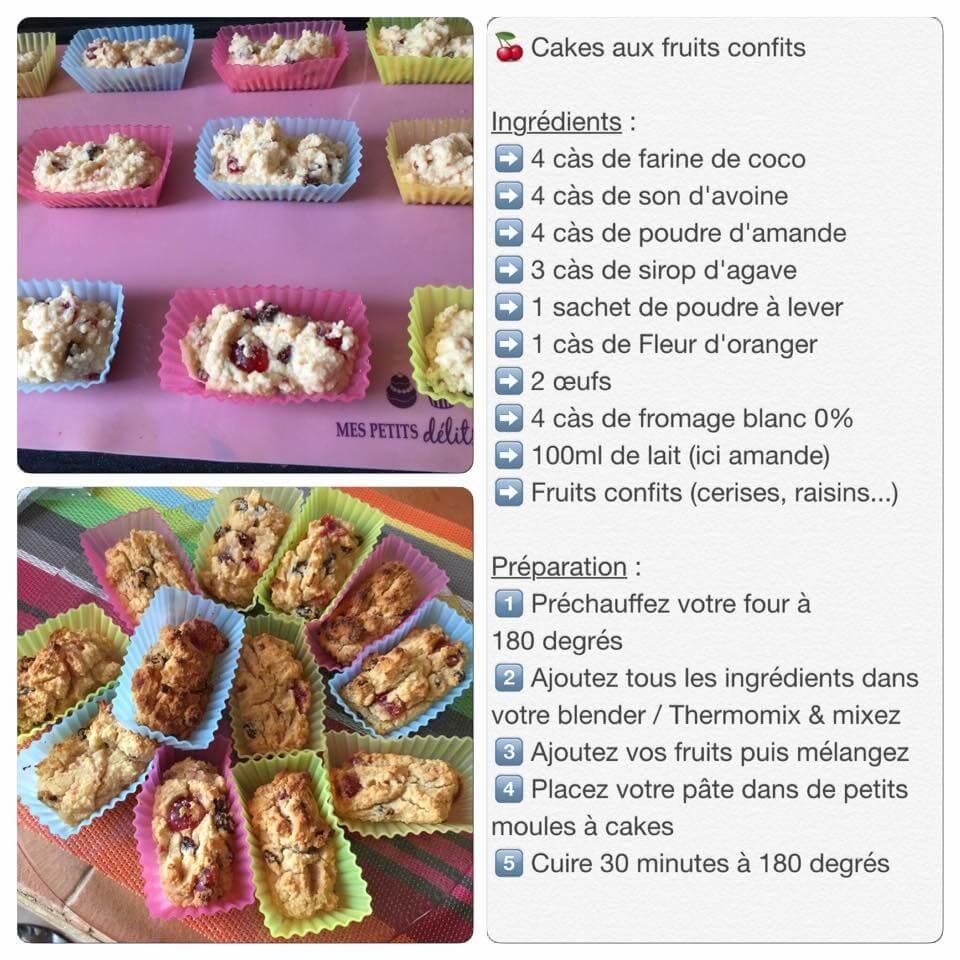 Recette de mini-cakes aux fruits confits