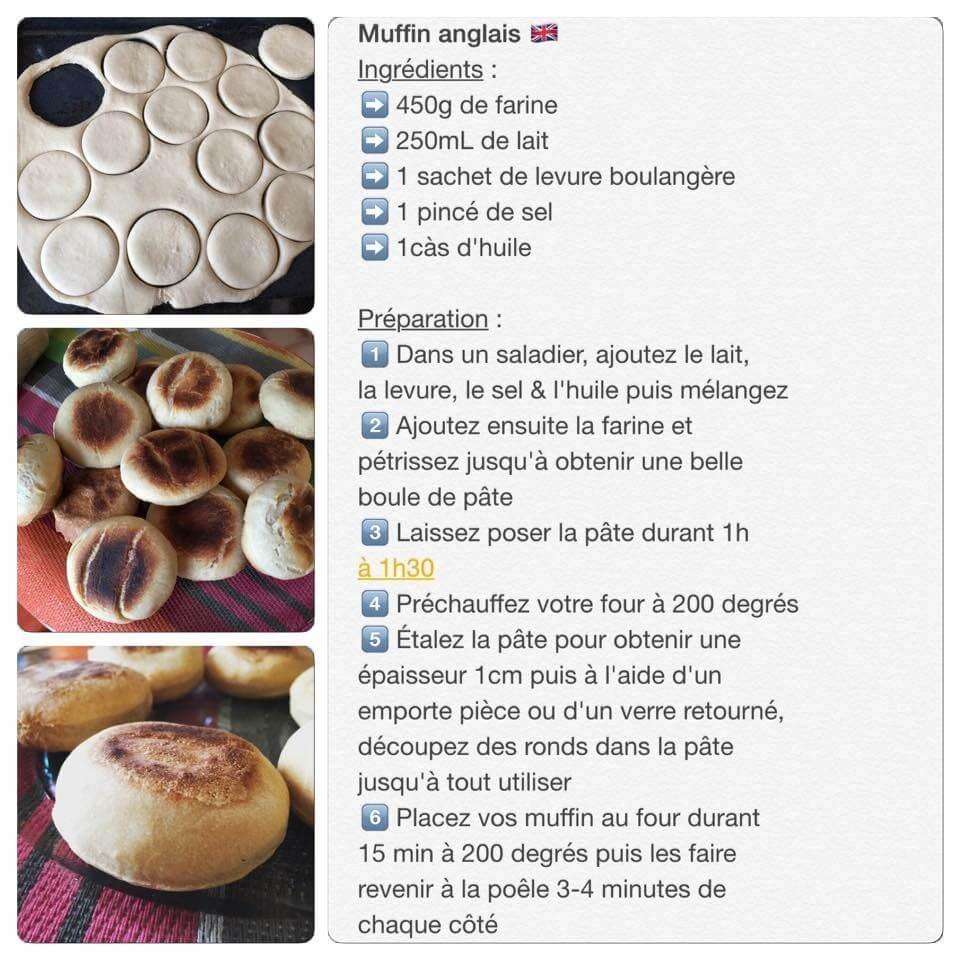 Recette de muffins anglais