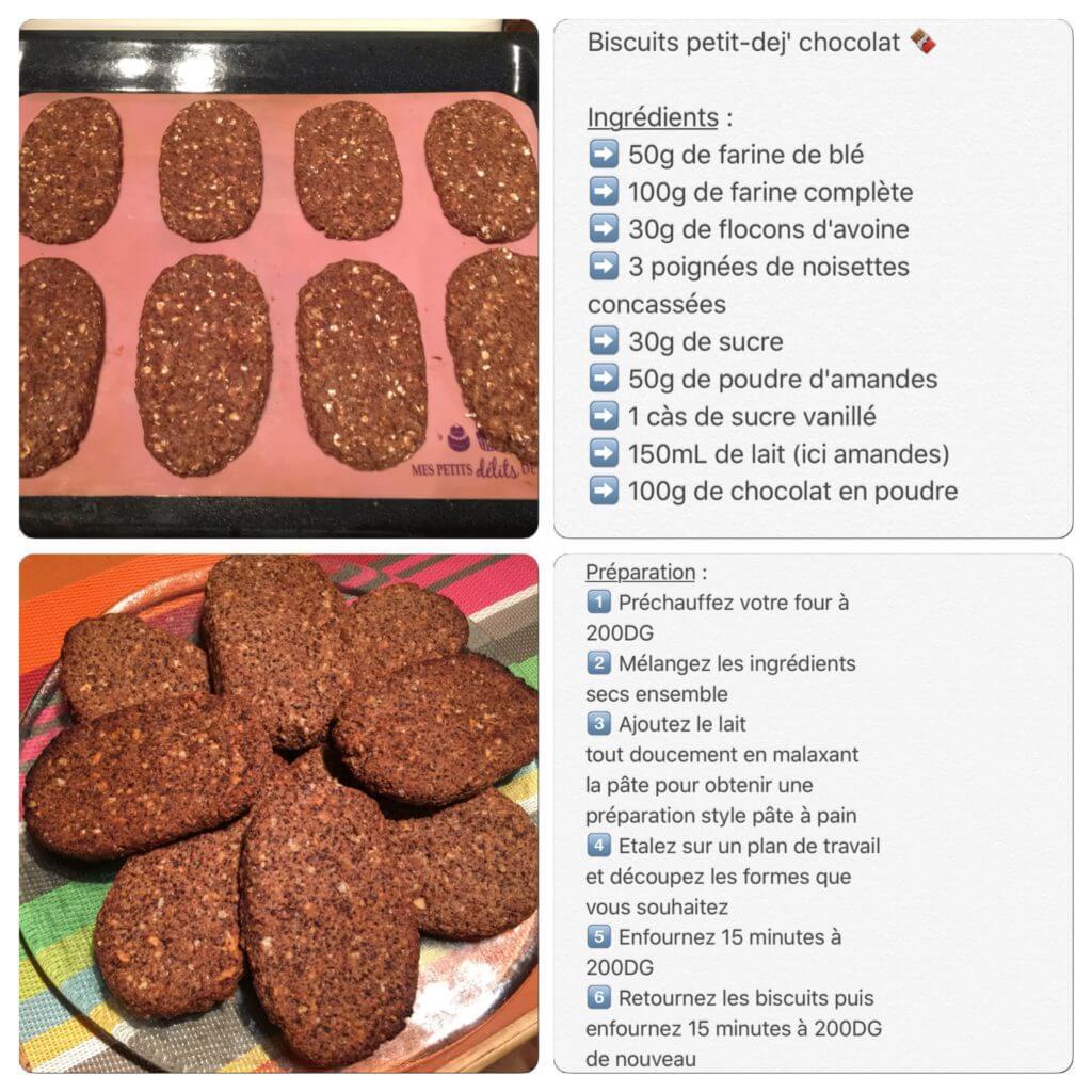 Recette de biscuits au chocolat pour le petit-déjeuner