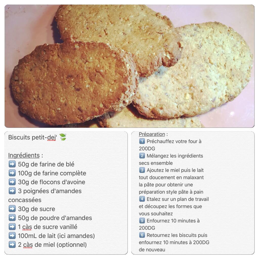 Recette de biscuits avoine et miel pour petit-déjeuner