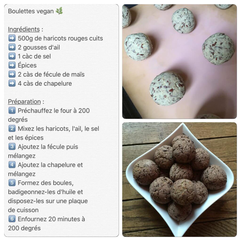 Recette de boulettes vegan