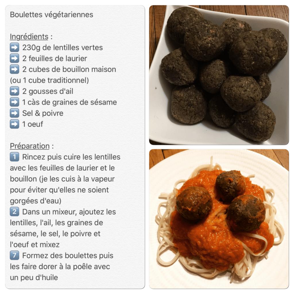 Recette de boulettes végétariennes pour pâtes bolognaises