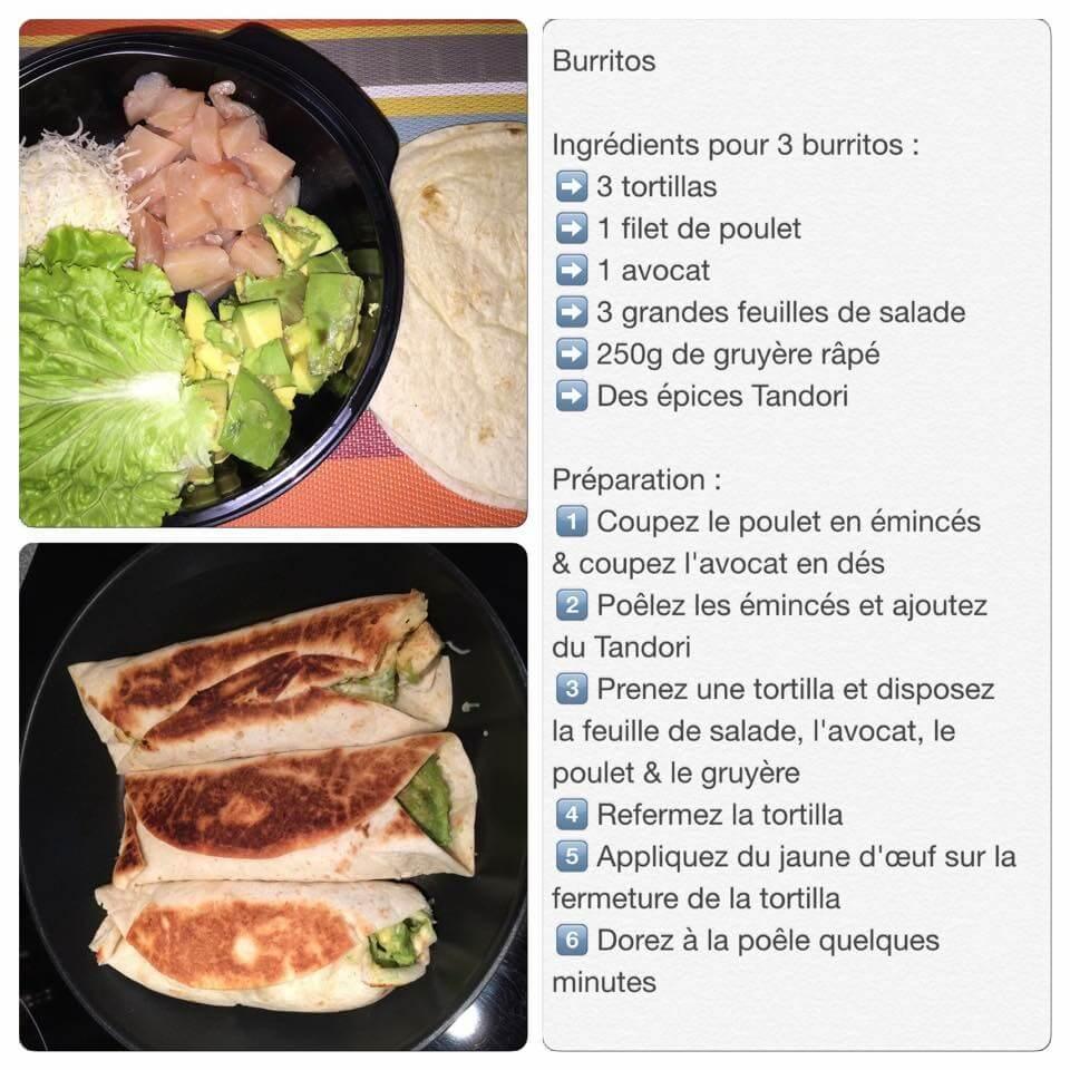 Recette de burritos healthy