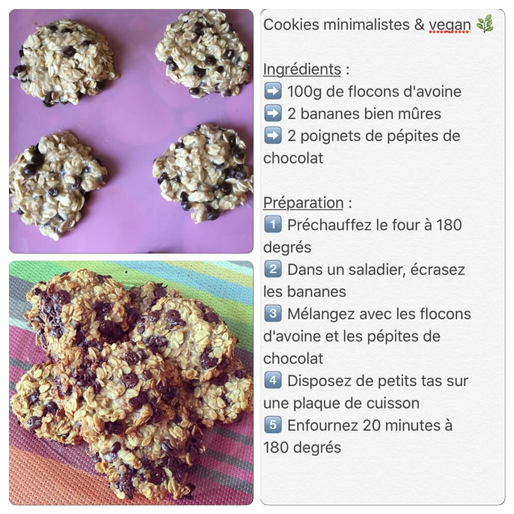 Recette de cookies minimalistes et vegan