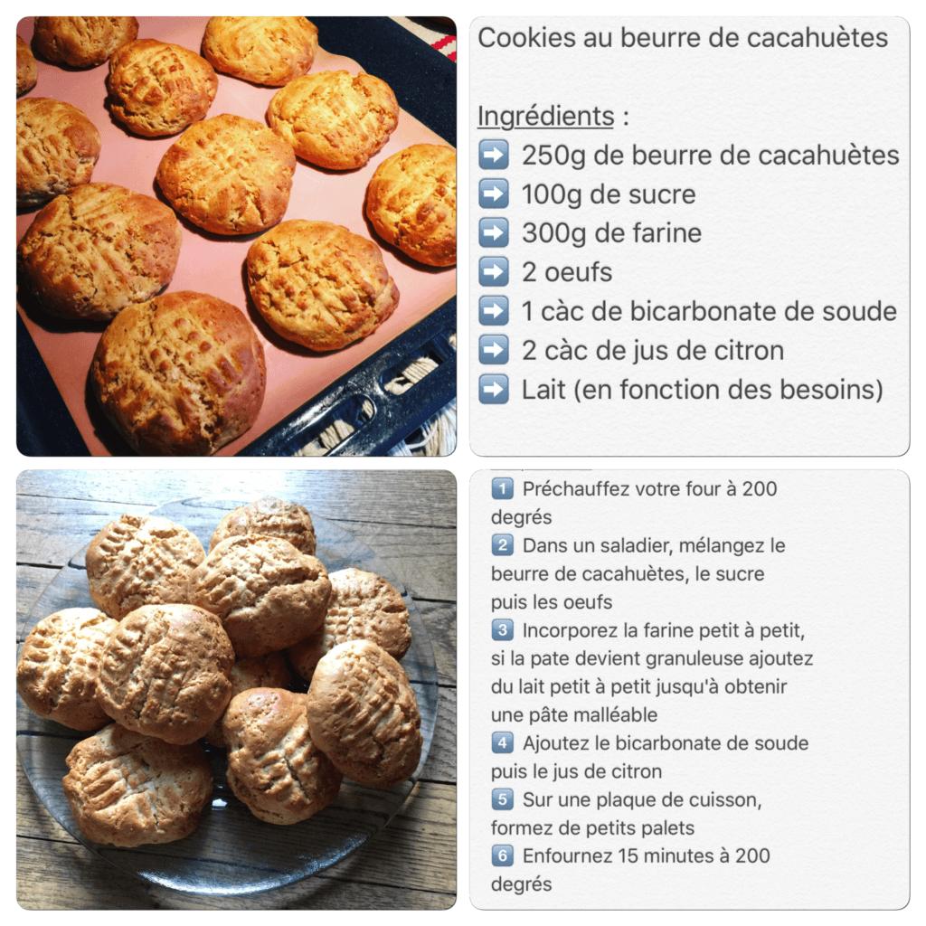 Recette de cookies au beurre de cacahuètes