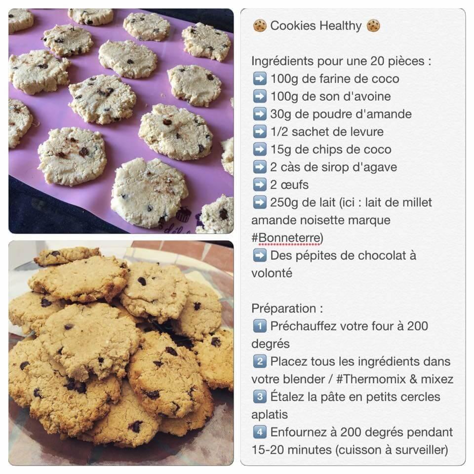 Recette de cookies à la noix de coco et pépites de chocolat