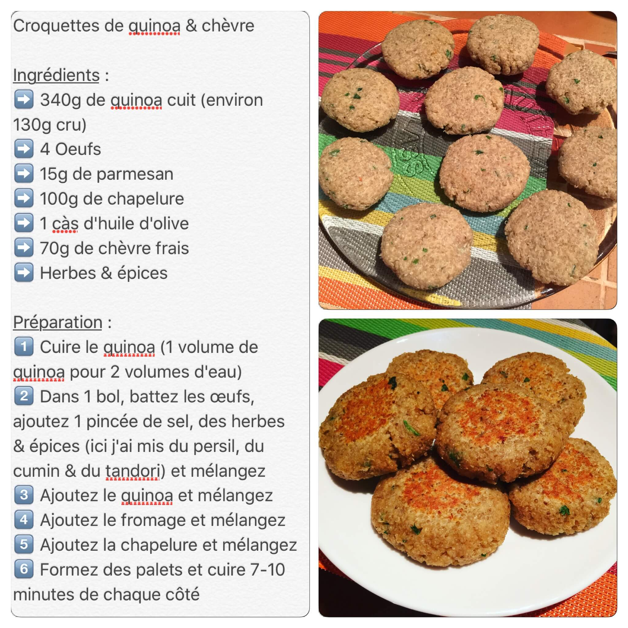Recette de croquettes de quinoa et fromage