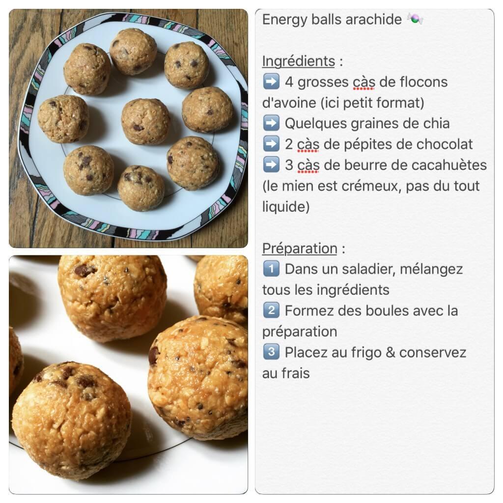 Recette d'energy balls avec du beurre de cacahuètes